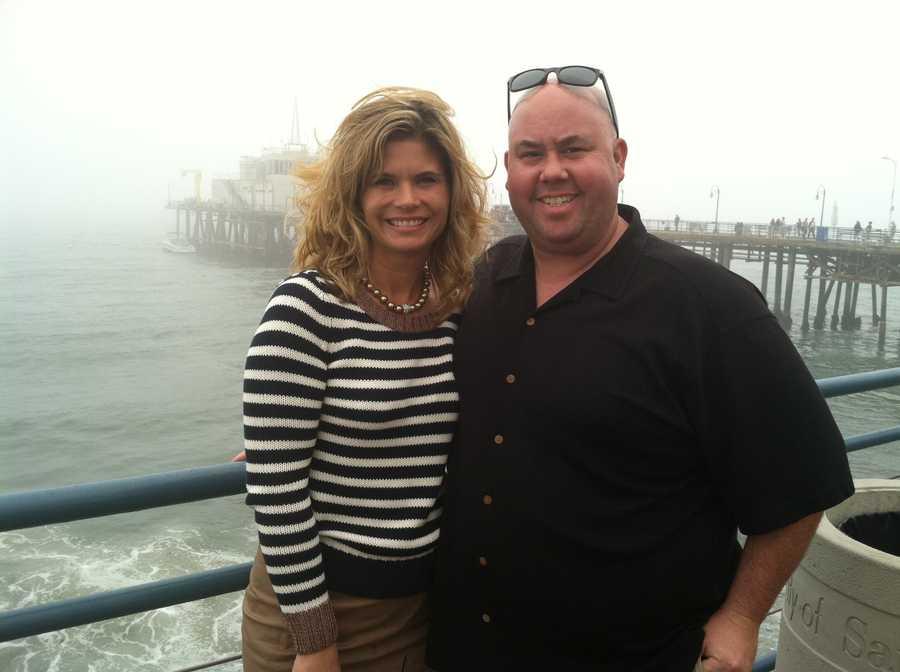 Stephanie and photojournalist Hank Strunk at the Santa Monica pier.