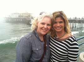 Producer Rita Aleman and Stephanie Sutton took a trip to the Santa Monica pier.