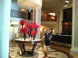 Stephanie Sutton at the Wilshire Hotel on Rodeo Drive