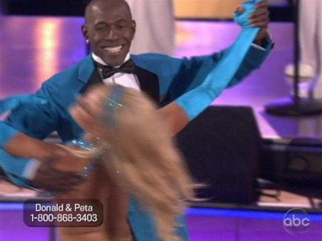 """You gotta smile so wide.."" is how The Temptations started Donald Driver and Peta Murgatroyd's Foxtrot."