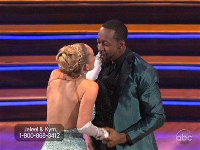 "Jaleel White and Kym Johnson did the Cha Cha to ""Ain't Too Proud To Beg."""