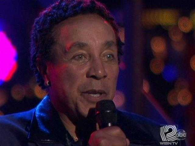 Smokey Robinson was in the ballroom to sing.