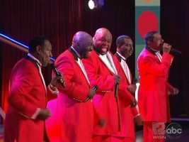 The Temptations sang in fine fashion as well.