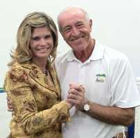 Stephanie Sutton and Len Goodman