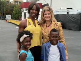 Stephanie Sutton with Betina Driver and the kids