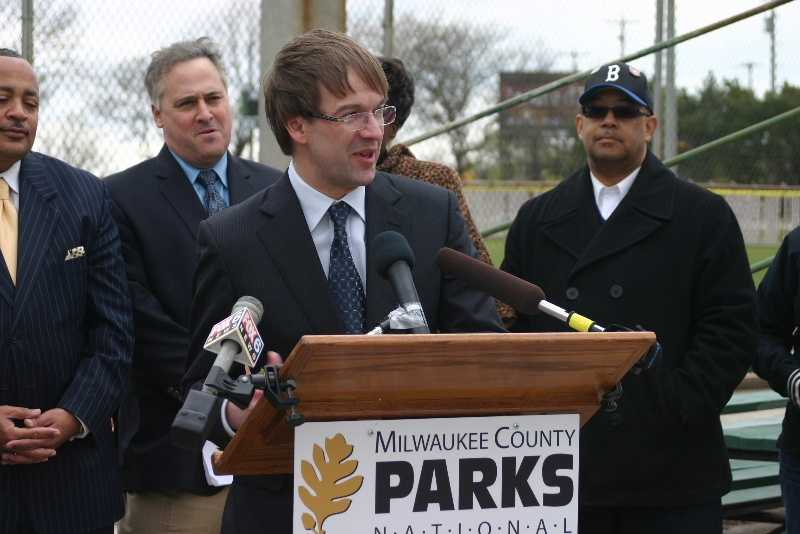Milwaukee County Executive Chris Abele delivered a few remarks.