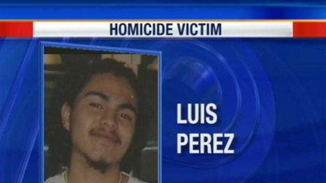 21 year-old Luis Perez was shot to death in front of his home Tuesday night following an argument with his girlfriend.