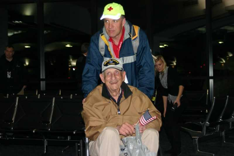 This was the 13th flight out of Milwaukee since the inception of Stars and Stripes Honor Flight, the Milwaukee hub of the Honor Flight Network.