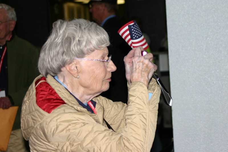 Many of the veterans were as interested in taking pictures of the crowd, as the crowd was in taking pictures of these heroes, many of whom never had this type of reception when the returned from war.