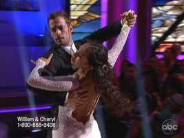 William Levy and Cheryl Burke danced the Viennese Waltz while 12-year-old soprana Jackie Evancho sang.