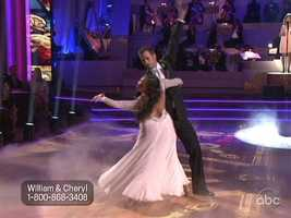 William's frame was fabulous, and Cheryl looked as if she floated across the dance floor.
