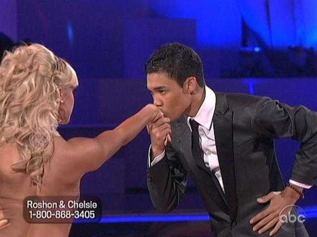 """Roshon Fegan and Chelsie Hightower danced the Argentine Tango to a classical version of Lady Gaga's """"Bad Romance."""""""