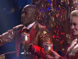 Donald Driver and Peta Murgatroyd were royalty in their Viennese Waltz.