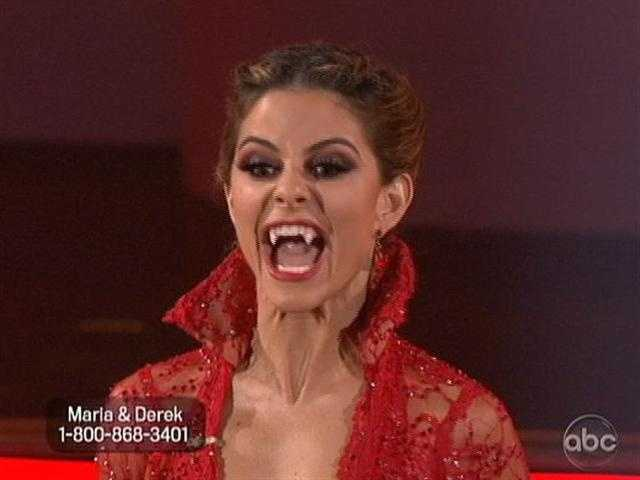 Maria Menounos and Derek Hough danced the Paso Doble with a vampire theme during Classical Week.