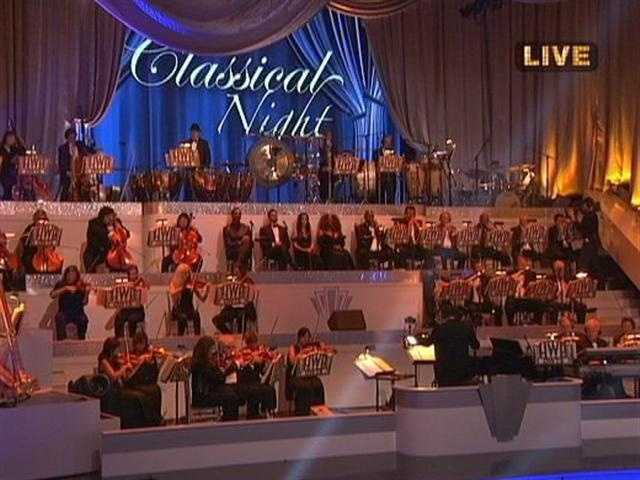 A full orchestra was in the ballroom for Classical Week on Dancing With The Stars.