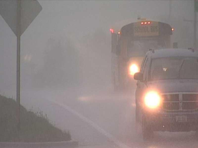 Heavy rain fell in Bayside.