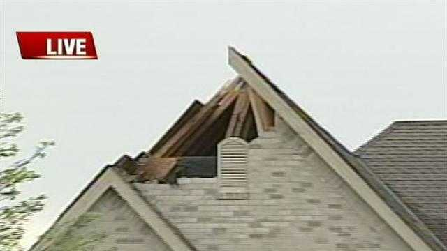 A Menomonee Falls house took a direct hit from a lightning strike Thursday afternoon.