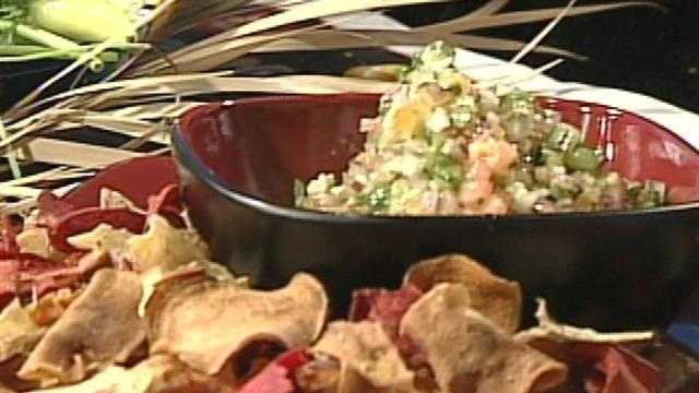"Chef Justin Johnson prepared some tasty salsa on ""12 News This Morning."""