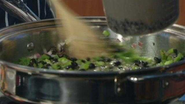 "Chef Justin Johnson prepared some tasty soup on ""12 News This Morning."""