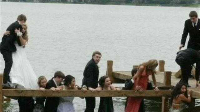 Students fell into Lac La Belle after pier breaks as they were taking prom pictures.