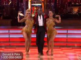 Their jive was very fast paced, and the judges felt he kept up with the ladies quite nicely.
