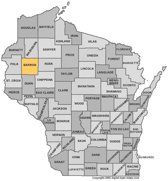 Barron County: 7.4 percent, down from 8.9 percent in March