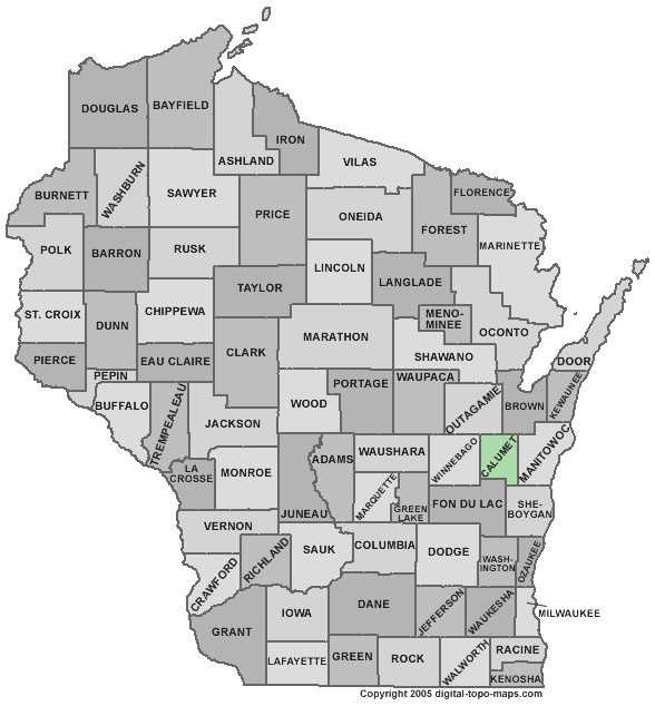 Calumet County: 5.0 percent, down from 5.7 percent in March