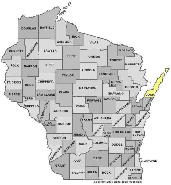 Door County: 10.4 percent, down from 12.8 percent in March