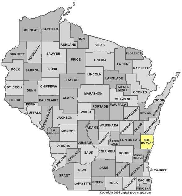 Sheboygan County: 6.4 percent, down from 7.3 percent in March
