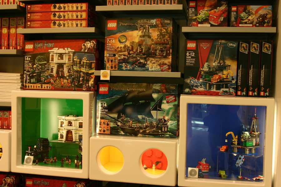 "Many licensed items such as ""Harry Potter"" and ""Pirates of the Caribbean"" sets are also for sale."