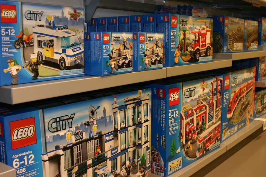 There are 58 Lego stores across the country