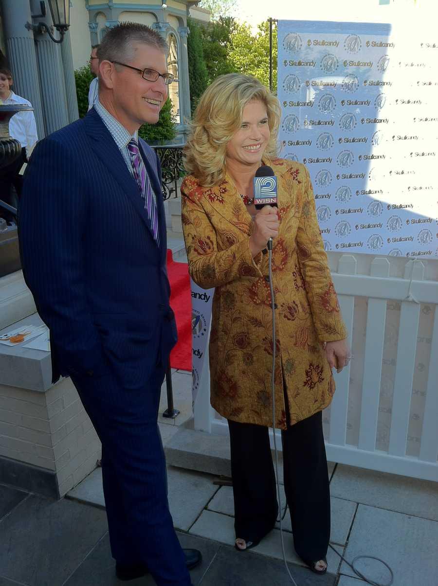 ESPN's John Anderson with Stephanie Sutton