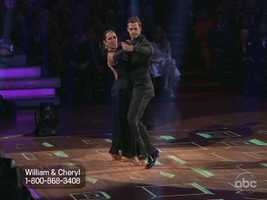 The semifinal round of Dancing With The Stars began with William Levy and Cheryl Burke dancing a Tango.