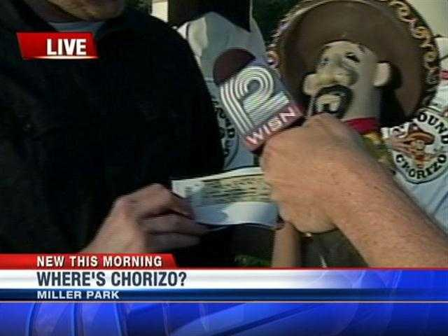 Chorizo statue were placed around Miller Park and had prizes attached.