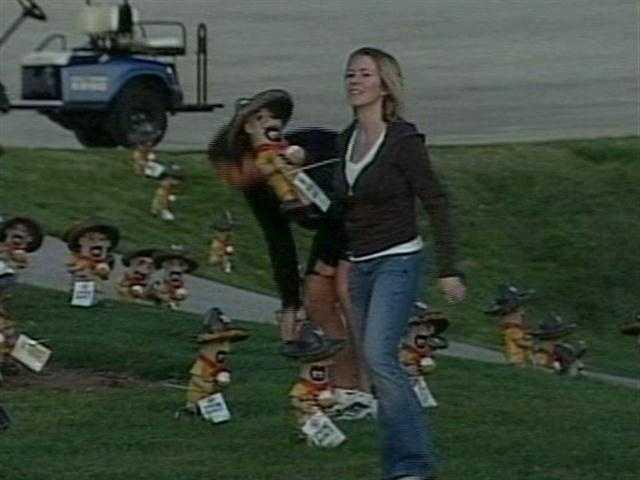 "2,000 Chorizo statues were ""hidden"" around Miller Park Tuesday morning."