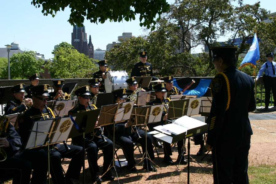 The Milwaukee Police band performed