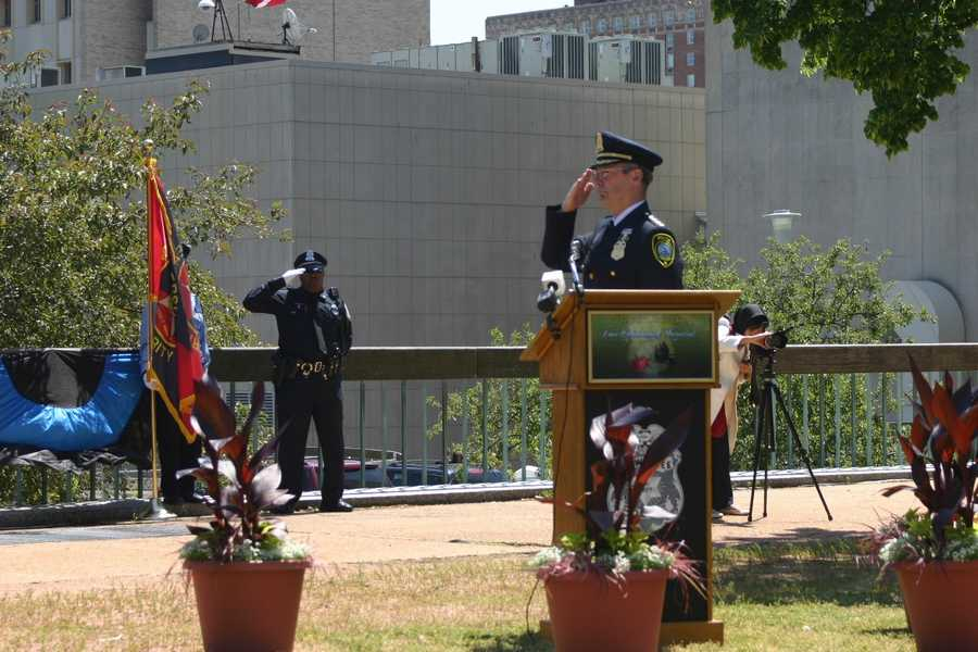 """Milwaukee Police Chief Edward A. Flynn: """"We remember those who made the ultimate sacrifice by choosing a profession in which all who enter lead a life of significance. In their honor, we serve the community with integrity, professionalism and compassion."""""""
