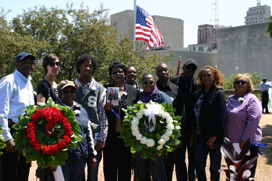 Family of Milwaukee Police officer Roger Sterling. He was killed in the line of duty in 1987.
