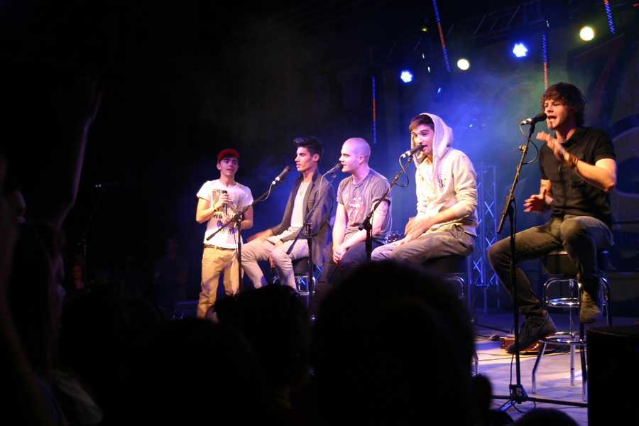 British-Irish boy band 'The Wanted' visited Racine Horlick High School to perform an exclusive concert.