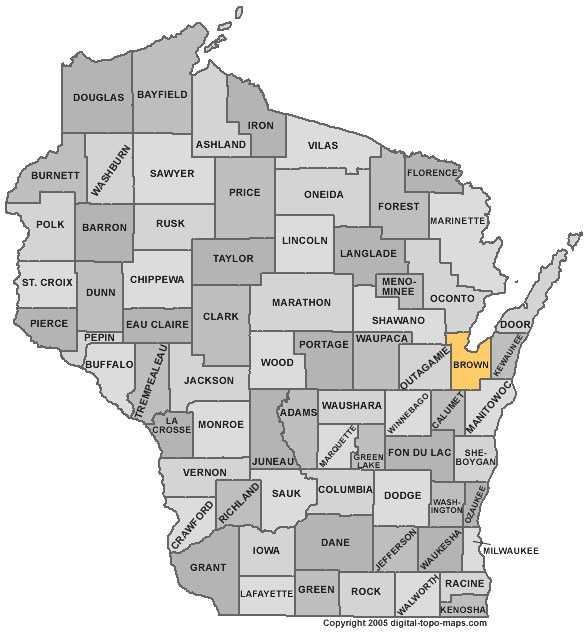 Brown County:-Population: 244,376. Median age: 36 years