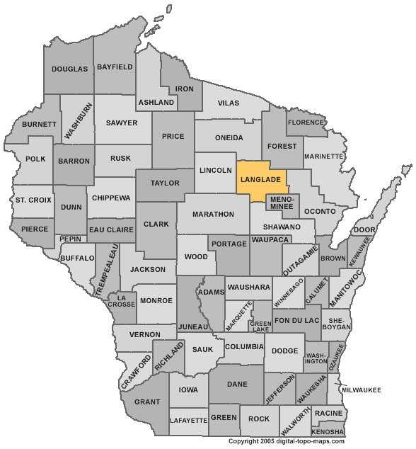 Langlade County: Population: 20,218. Median age: 44.9 years