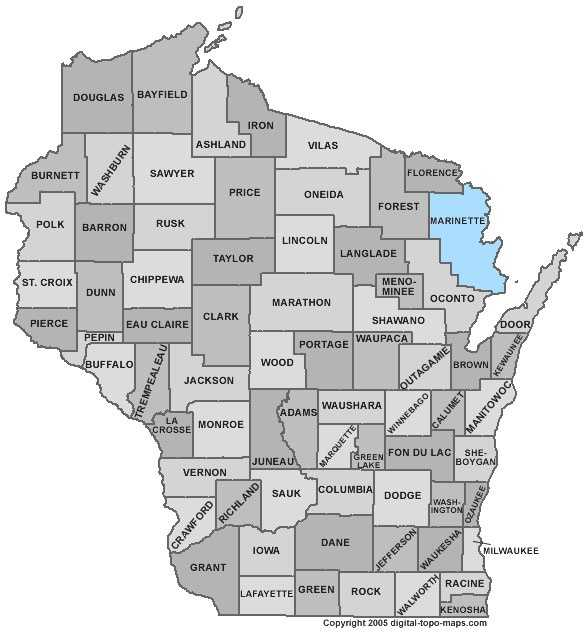 Marinette County: Population: 42,019. Median age: 44.8 years