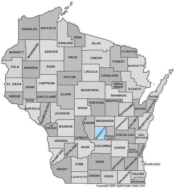 Marquette County: Population: 15,421. Median age: 46.6 years