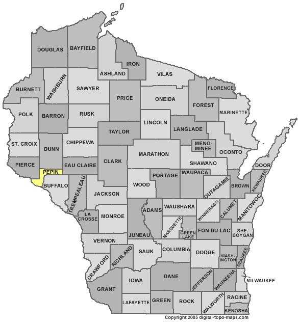 Pepin County: Population: 7,517. Median age: 42.6 years