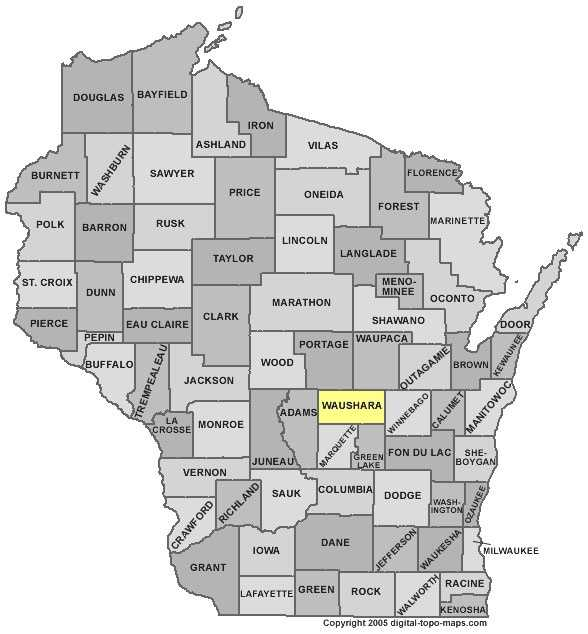 Waushara County: Population: 24,631. Median age 45.4 years