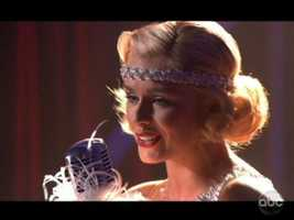 Katherine Jenkins began her dance by doing what she's known for: Singing.