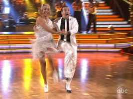 """Bruno thought it was """"fast and flamboyant."""" Carrie Ann said she could do anything and called it the """"dance of a champion."""""""