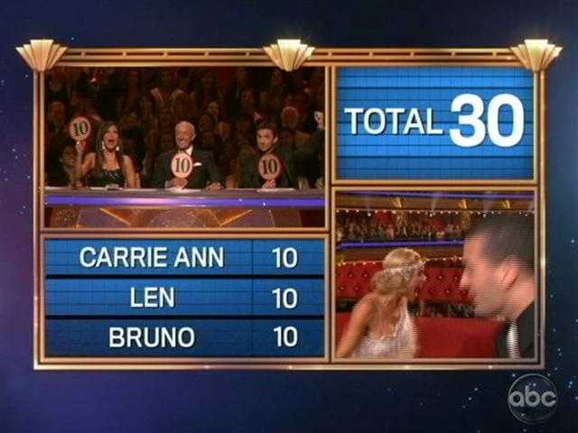 Katherine and Mark scored a perfect 30 in both rounds.