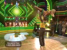 """Carrie Ann was up on the judges table, and proclaimed the routine the """"best dance of the night."""""""