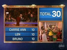 Donald and Peta ended the night with a total score of 59.